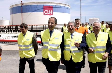 L'expresident Camps a la planta de CLH d'Albuixec.